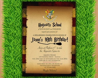 Harry Potter Invitation - Magical Birthday Invitation Party - Harry Potter Party Invite - Boy Girl Birthday Printable invite