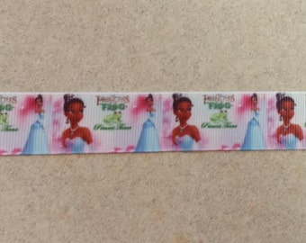 1 Yard Tiana and the Frog Pink Grosgrain Ribbon