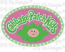 Cabbage Patch Kids Doll Halloween Costume Iron On Logo Cutting File / Printable Clipart in Svg, Eps, Dxf, Png, Jpeg for Cricut & Silhouette