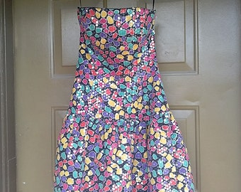 Colorful sequins 80s dress XS-S
