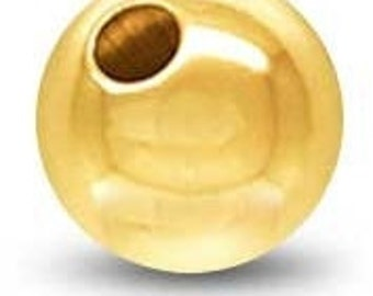 Gold Filled Round Beaded bead 12mm 18K Gold Filled Ball Bead, Plain, 18KGF, GF3401