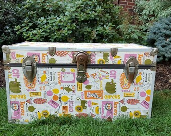 Toy steamer trunk etsy for Mid century modern toy box
