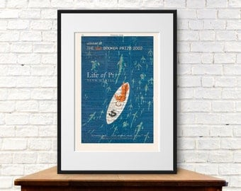 Life of Pi by Yann Martel. Book Cover Art Print