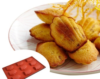 Madeleine cookie Silicone DIY Mold to make Soap Candle Chocolate Candy Tray Mold ICE Party maker  mould