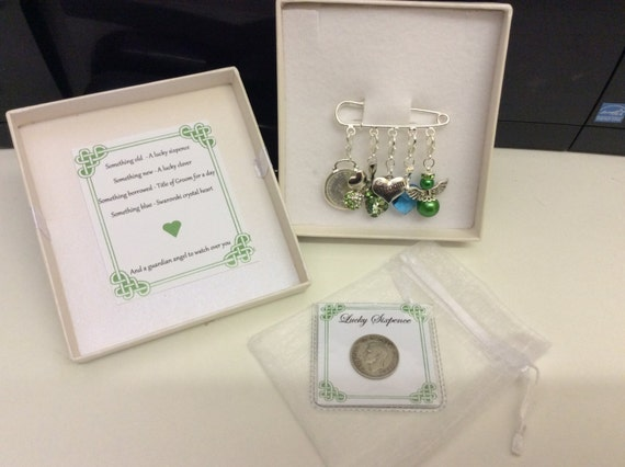 Wedding Gifts For Groom Ireland : Irish Groom, charm pin, wedding gift. Something old, something new ...
