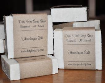 Himalayan Salt Bar Soap - Handmade - Artisan - Handcrafted - Cold Processed - Vegan
