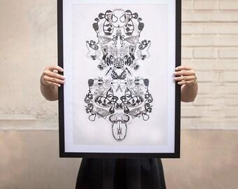 Bodies - original illustration 50x70cm