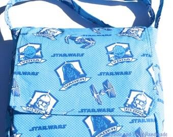 Star Wars Fabric 'Archie' Messenger Bag, fabric Messenger bag, handmade messenger bag