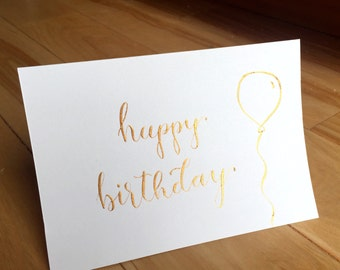 Happy Birthday Cards - Package of 5