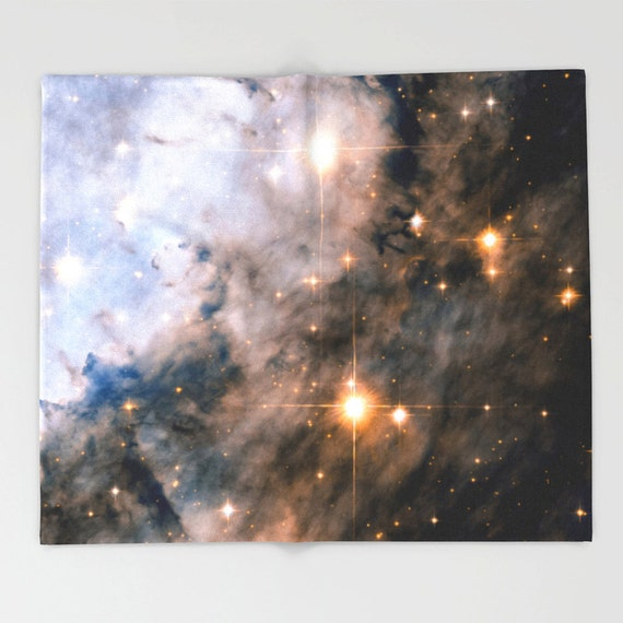 Throw blanket outer space decor home decor eagle nebula for Outer space home decor