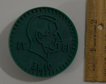 "Vintage WECOLITE DIME COIN Cookie Cutter | 1976 2 3/8"" Diameter"
