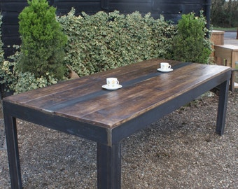 Industrial Metal Base Dining table