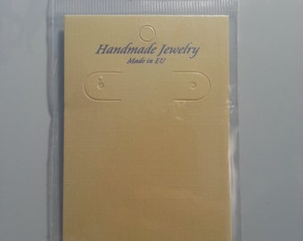 10 Earring Display Cards With Self Adhesive Bags