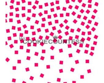 Square Confetti Mini Stencil