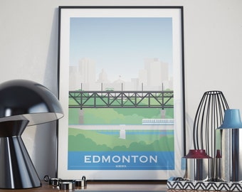 Edmonton, Alberta City Illustration
