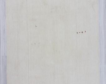 "8'x14'5"" (245x440cm) Vintage handwoven decorative modern white naturel oversized Turkish hemp kilim rug,FREE SHİPPİNG"