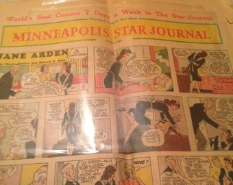 Free shipping 1946 comic section of the Minneapolis Star Journal