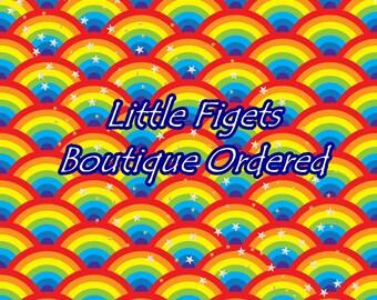 Starry Rainbows Jersey Fabric UK Seller Pre-Order