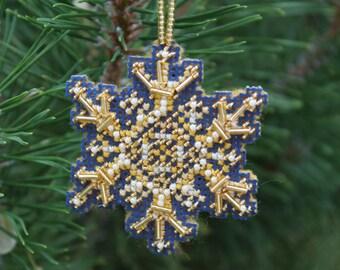 Blue Gold Snowflake