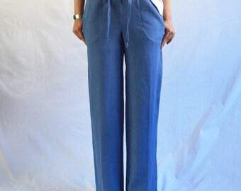 CUSTOM The Pant: Women's drawstring linen pant