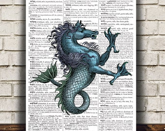 Fantasy print Mythology art Magic beast poster Creature print RTA890