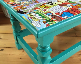 Comic furniture - upcycling - ALF - stool - side table