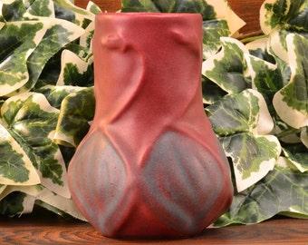 Van Briggle Pottery Vase, 1940-60 Mulberry Onion Bulb Vase #645