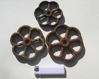 Vintage 3  faucet knobs