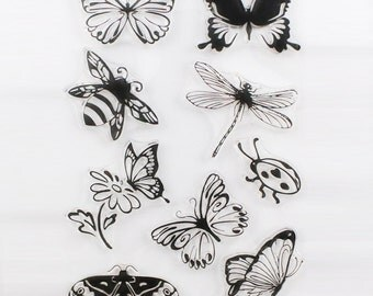 1PCS ButterflyTransparent Stamp Variety Of Styles Clear Stamp 16 x 11 cm