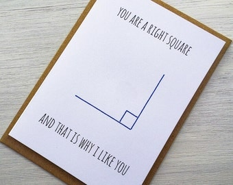 You Are A Right Square Card