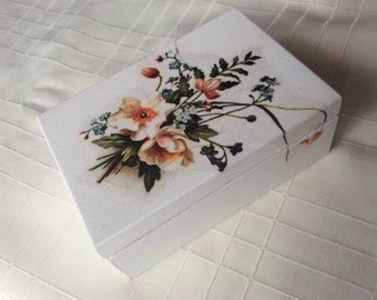decoupage box for jewellery