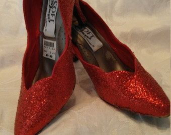 Ruby Red Shoes - Great for Prom or Wedding