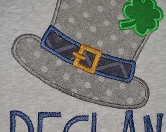 Irish Hat and Shamrock Top