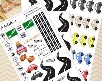 Roadtrip Planner Sticker Kit