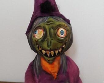 Primitive Witch Folkart Doll