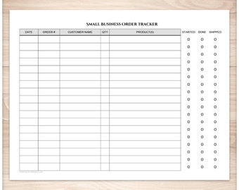 Printable Small Business Order Tracker Pages - Clean and Simple - Order Status Column - Instant Download