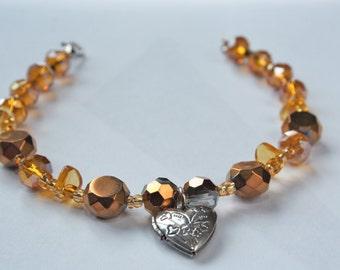 Silver Locket Bracelet
