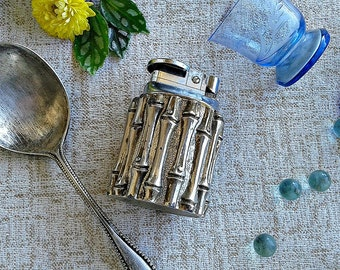 Table lighter, Vintage silver plated table lighter, collectible silver plated lighter, rare table lighter