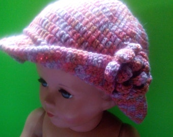 Hat with flower baby girl