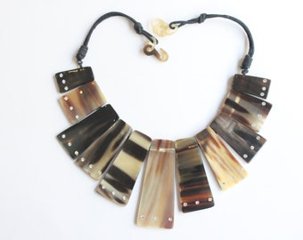 Horn Jewelry Chain Necklace Handmade :dc 009