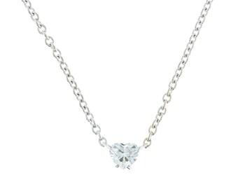 0.90ct Heart Diamond Pendant by Cartier