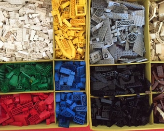 Color Sorted Lego® Bricks, Parts, Pieces for Projects & Crafts! 1 pound bulk LEGO® part lot All colors! Black, grey, blue, red, yellow etc.!