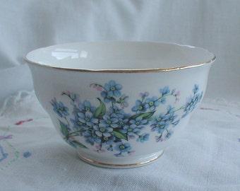 Vintage Royal Vale Bone China Sugar Bowl Forget Me Nots Design
