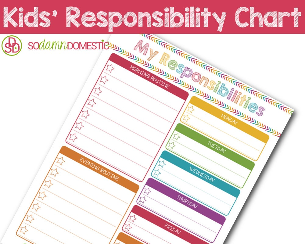 It's just a graphic of Terrible Printable Responsibility Charts