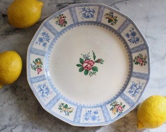 Early 20th C. Royal Doulton Hand-Painted Transferware Plate