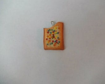 Polymer clay pop tart charms/keychains