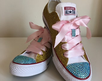 LBP 100th Sale Converse! Gold Glitter Converse!