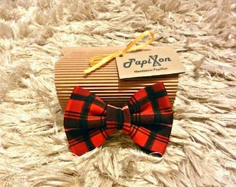 Red/Black Plaid Bow Tie