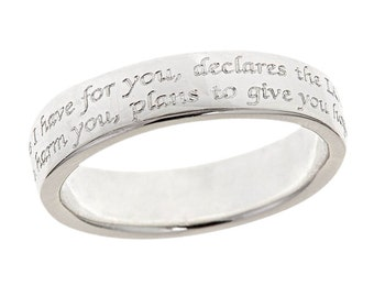 Sterling Silver Scripture Ring Jeremiah 29:11