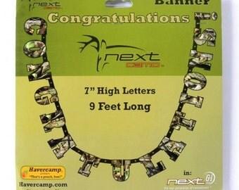 "Next Camo ""Congratulations"" Letter Banner"
